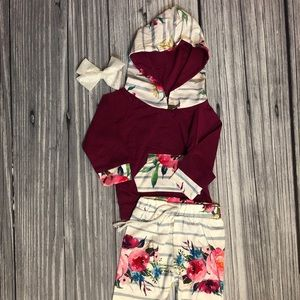 Matching Sets - Adorable floral baby 2 piece set